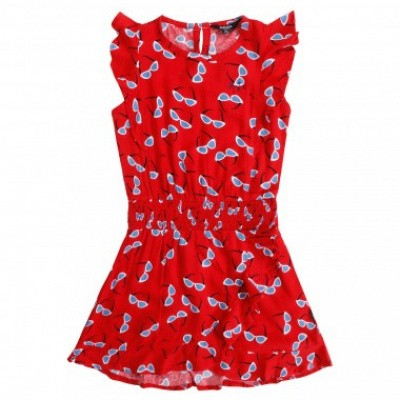 Foto van Little miss Juliette Dress ruffle rood