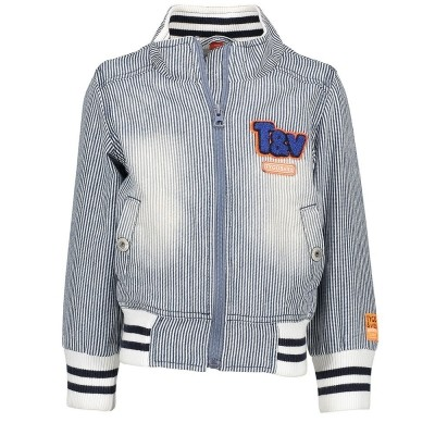 Tygo & Vito striped jacket dark blue