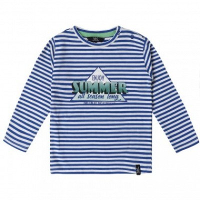 Beebielove boys long sleeve summer blue stripe