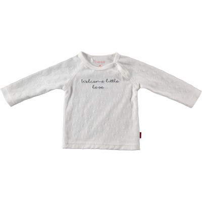 Bess newborn shirt welcome little love white