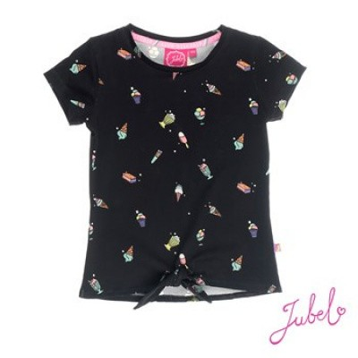 Foto van Jubel T-shirt zwart/all over print discodip