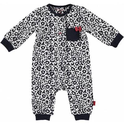 Bess newborn suit leopard AOP