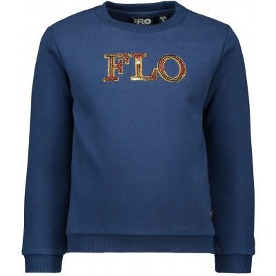 Flo meisjes sweater blue