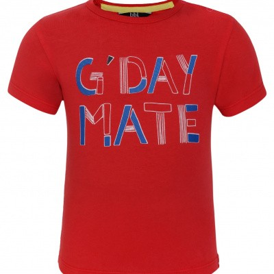 Foto van Beebielove Shirt G'Day Mate Red