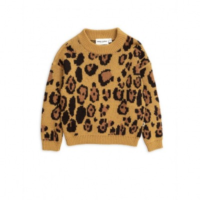 Foto van Mini rodini leopard knitted sweater