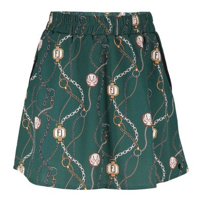 Frankie & Liberty Lora Skirt Chain Print Forest Green