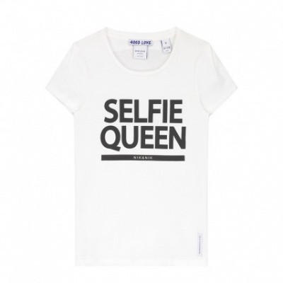 Foto van Nik & Nik girls Selfie T-shirt 2000 Off White