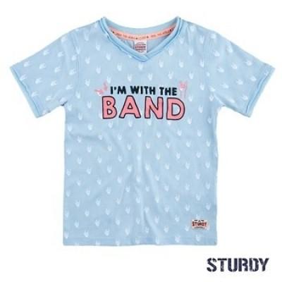 Foto van Sturdy shirt k/m Band Festival l. Blauw
