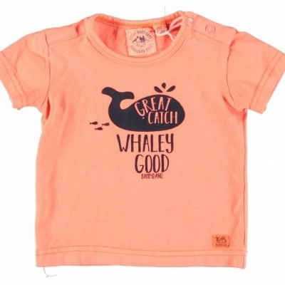 Foto van Little Bampidano Baby boys T-shirt ss plain neon corel
