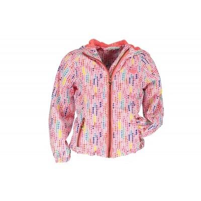 Kidz-art jacket hooded dots all over