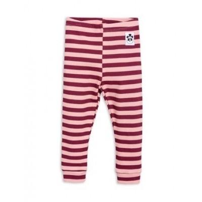 Mini Rodini stripe Rib legging pink