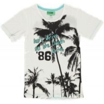 Foto van D-rak boys t-shirt wit/zwart
