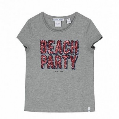 Nik & Nik Girls Lillian T-shirt Grey