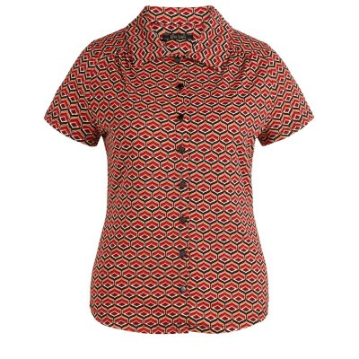 King Louie Blouse Vongole Beet Red