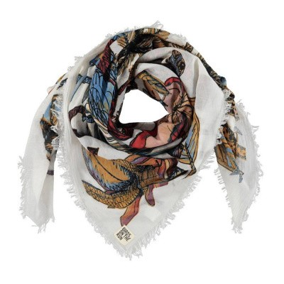 Birds On The Run Scarf Tropical Sketch Multicolour