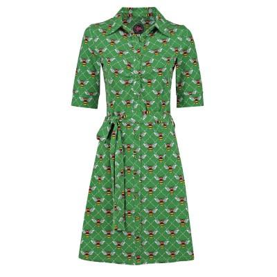 Foto van Tante Betsy Button Down Dress Bee Green