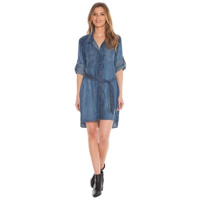 Foto van Bella Dahl Shirt Tail Dress Evening Mist Wash