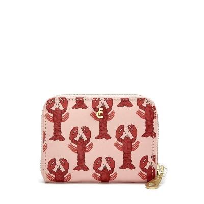Fabienne Chapot Mimi Purse Printed Pale Pink Scarlet Red