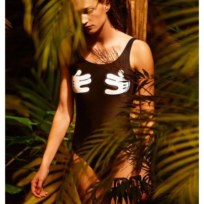 Foto van Zoe Karssen Cartoon Hands Swimsuit Jet Black
