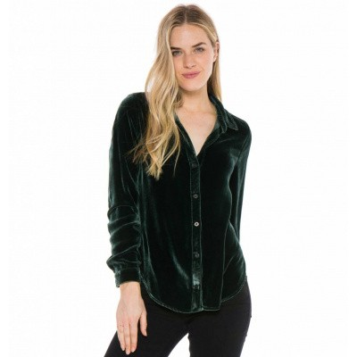 Foto van Bella Dahl Longsleeve Button Down Dark Green