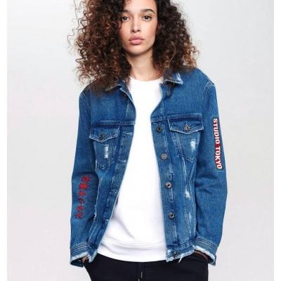 Zoe Karssen Studio Tokyo Jacket Mid Wash Blue
