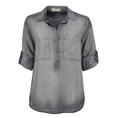 Foto van Bella Dahl Pullover Placket Shirt Artic Grey Wash