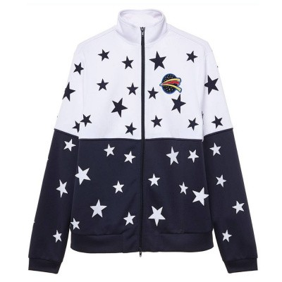 Zoe Karssen Stars All Over Sweater Optical White Mood Indigo