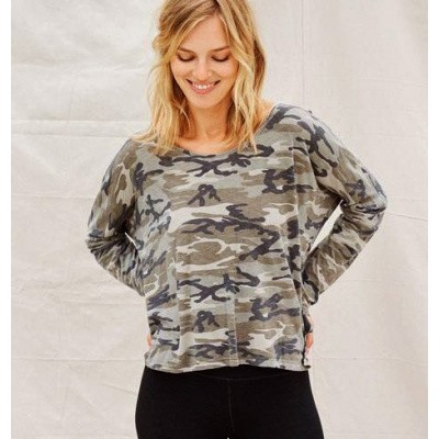 Sundry U Neck Long Sleeve Olive