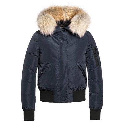 Foto van Goldbergh Bomba Jacket Fur Dark Navy