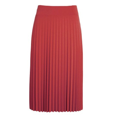 King Louie Border Plisse Skirt Soleil Cardinal Pink