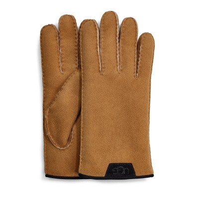 Foto van UGG Shearling Glove Leather Trim Chestnut