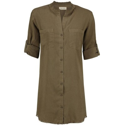 Foto van Bella Dahl Western Yoke Shirt Dress Burnt Olive