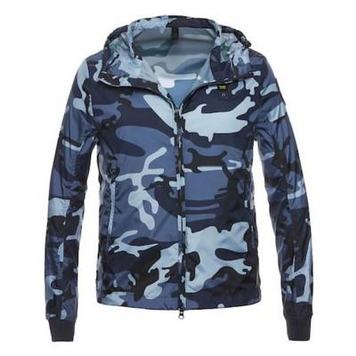 Foto van Blauer Chris Lightweight Camouflage Jacket Night Blue