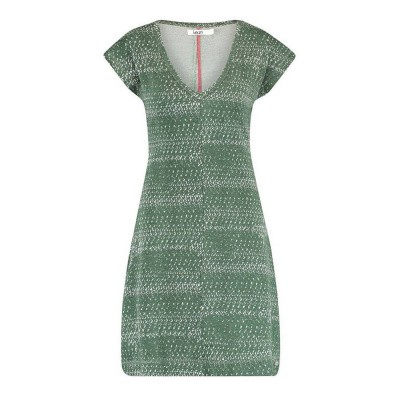 IEZ! Dress Flatlock Print Viscose Green Light Grey