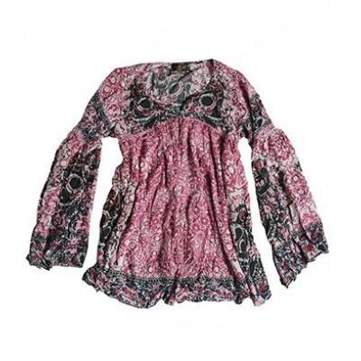 Rude Riders Bandana Shirt Calavera Mexskull Black Pink