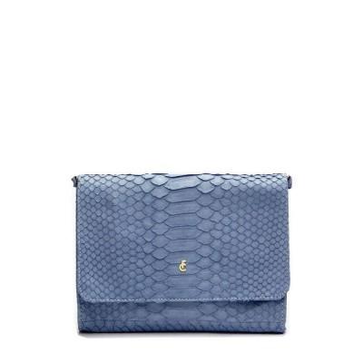 Fabienne Chapot Marie Clutch Python Ice Blue