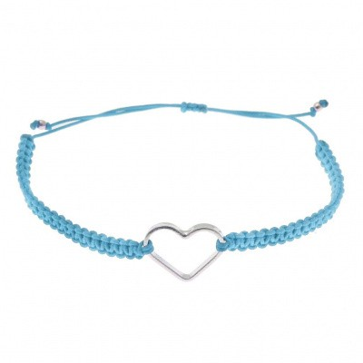 SeeMe Macrame Bracelet Small Heart Light Blue