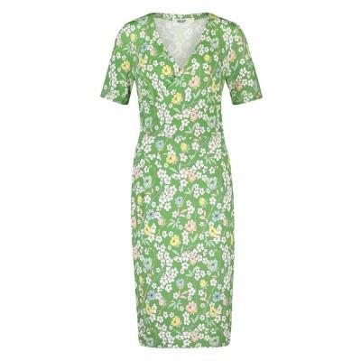 IEZ! Dress Wrap Jersey Prints Green