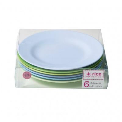 Foto van Rice Borden Set Melamine Blauw & Groen