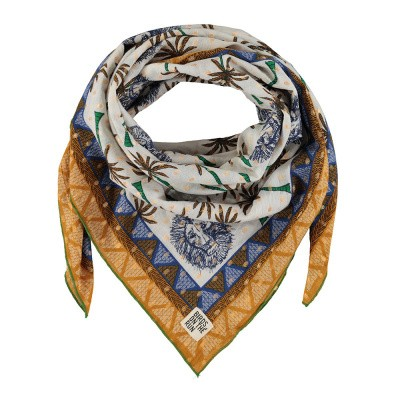 Foto van Birds On The Run Shawl Palm Lion Design With Border