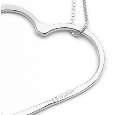 SeeMe Medium Heart Short Venetian Chain Silver