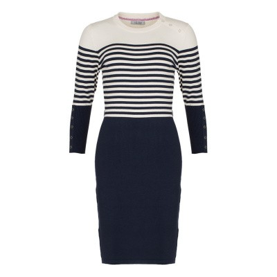 Le Pep Dress Adelle Navy Stripe