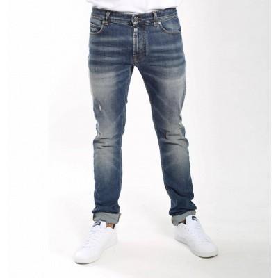 Foto van Amsterdenim Kees Slim Fit Jeans Vintage Blue