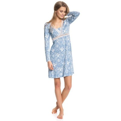 Foto van Vive Maria Blue Barock Nightdress Blue Allover