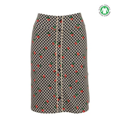 King Louie Button Skirt Marie Black