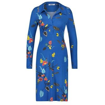 IEZ! Dress Polo Jersey Print Blue