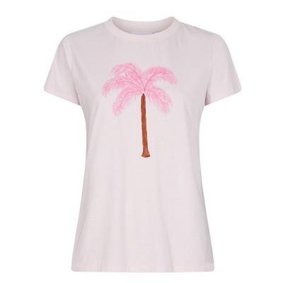 Foto van Fabienne Chapot Joanne T-Shirt Palm Pink Feather Palm