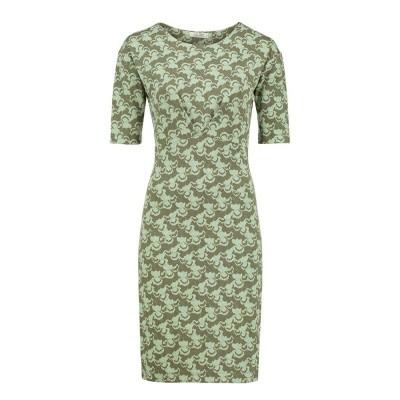 Le Pep Dress Ezgi Faded Green Multi Color