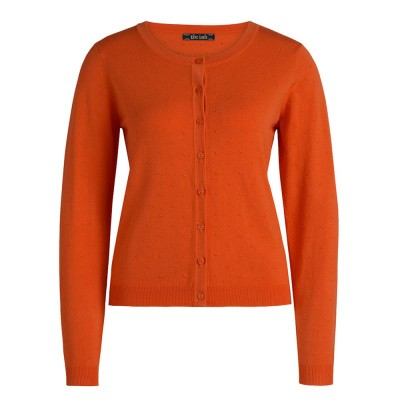 Foto van King Louie Cardi Roundneck Droplet Clay Red