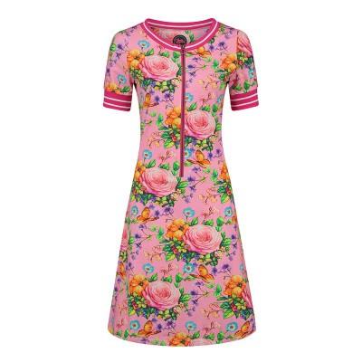 Foto van Tante Betsy Dress Pepper Butterfly N Roses Pink